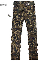 New men's winter camouflage overalls Metrosexual Korean bags pants slim pants bag side stereo