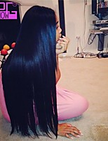 Brazilian Virgin Human Hair 10-26inch In Stock Glueless Full Lace Wig For Black Women With Baby Hair