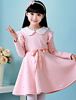 Girl's Cotton / Mesh Dress , Winter / Spring / Fall Long Sleeve