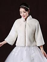 Wedding / Party/Evening Faux Fur Boleros Long Sleeve Wedding  Wraps