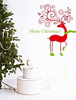 2015 New ZooYoo® Xmas27-NA Merry Christmas Reindeer Wall Stickers Christian Room Decorations