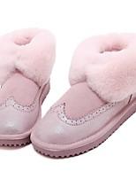 Zapatos de mujer - Tacón Plano - Botas de Nieve - Botas - Exterior / Vestido / Casual - Cuero - Negro / Azul / Marrón / Rosa / Morado