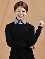 Fashion Women`s Lattice Fabric Cotton Collar Decoration Cravat & Ascot Joker Daily/Casual