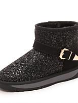 Chaussures Femme - Décontracté - Noir / Violet / Gris - Talon Bas - Bout Arrondi - Bottes - Similicuir