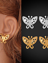 Instyle 18K Chunky Gold Plated Butterfly Stud Earrings High Quality