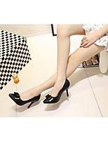 Women's Shoes Leather Stiletto Heel Heels Heels Wedding / Dress / Casual Black / Purple / White