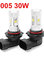 2 X White High Power 30W HB3 9005 LED Light bulbs DRL Fog/Driving Light Lamp 12V-24V