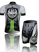 THINKOFF SAXO® Unisex Short Sleeve Summer Cycling Suits 3/4 TightsWaterproof / Breathable / Insulated