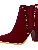 Women's Shoes Suede Chunky Heel Heels / Bootie / Pointed Toe / Closed Toe Boots Dress More Colors Available