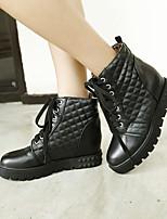 Women's Shoes Leatherette Flat Heel Platform / Comfort / / / Dress / Casual Black / White / Beige