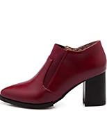 Zapatos de mujer - Tacón Robusto - Botas a la Moda - Botas - Exterior / Casual - Semicuero - Amarillo / Rojo / Beige