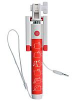 cadeau chritmas 2015 nouvelle selfie de bâton avec monopode câble déclencheur pour téléphone intelligent