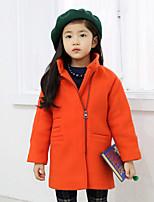 Veste & Manteau Fille de Hiver / Automne Mélange de Coton Orange / Rouge