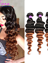 Ombre Brazilian Virgin Hair Loose Wave Human Hair Weaves 1b/30 3pcs/lot 6A CARA Hair Products Ombre Hair Extensions