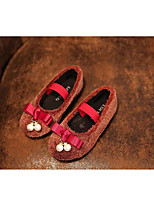 Girls' Shoes Party & Evening / Dress / Casual Comfort / Round Toe / Closed Toe Wool Flats Black / Burgundy / Khaki