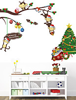 Wall Stickers Wall Decals Style New Christmas Naughty monkey PVC Wall Stickers