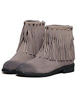 Women's Shoes Suede Low Heel Fashion Boots Boots Casual Gray