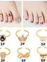 1pcs Foot Ring Alloy Butterfly Crown Accessories