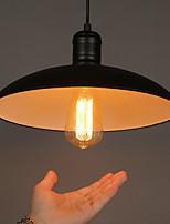 E27 31.5*17CM Line 1M Lamps And Lanterns Art Restoring Single Head, Wrought Iron Flying Saucer Ufo Droplight Led