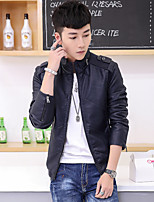 New winter men leisure leather coat of cultivate one's morality Han edition cultivate one's morality fashion coat