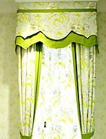 (due pannelli) paese floreale tela di cotone stampato miscela ecologico tenda (mantovana e pura non incluso)