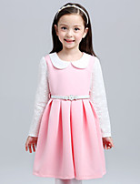 Girl's Pink Dress , Lace Cotton Summer / Spring / Fall