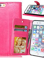 Para iPhone X iPhone 8 iPhone 6 iPhone 6 Plus Carcasa Funda Cartera Soporte de Coche con Soporte Flip Cuerpo Entero Funda Color sólido