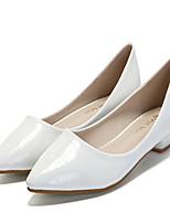 Women's Shoes Chunky  Toe Heels Casual Black / White