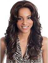 Women Synthetic Multi-color Wig Wavy Medium Synthetic Hair Wig