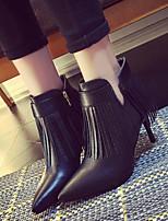 Chaussures Femme - Habillé / Décontracté - Noir / Gris - Talon Aiguille - Confort / Bout Pointu - Bottes - Similicuir