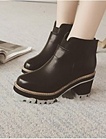 Women's Shoes Chunky Heel Fashion Boots / Closed Toe Boots Casual Black