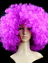 Black Afro Wig Fans Bulkness Cosplay Christmas Halloween Wig Purple Color