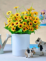 A Bunch Of 10 Fork Polyester Daisies Artificial Flowers