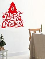2015 New ZooYoo® Xmas19-NO Merry Christmas Tree Wall Stickers Christian Room Home Decoration