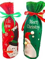 Christmas Decoration Wine Bottle Clothes Bottle Bag