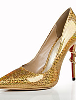 Women's Shoes Leather Stiletto Heel Heels / Pointed Toe Heels Wedding / Party & Evening / Dress Gold