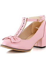 Women's Shoes Chunky Heel Comfort / Pointed Toe Heels Outdoor / Office & Career / Dress / Casual Green / Pink / White