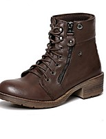 Women's Shoes  Chunky Heel Riding Boots / Fashion Boots Boots Casual Black / Brown