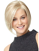 Women's Exquisite Medium Length Straight Brown with Blonde Wig