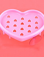 Women Bathroom Heart-Shaped Wall Suction Soap Dish Box Case Container Holder