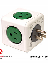 Besteye® Allocacoc PowerCube 4100/US Power outlet with 5 Outlets Wall Adapter Reddot Power Strip