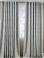 Room Darkening Jacquard Geometric Curtain (Two Panel)