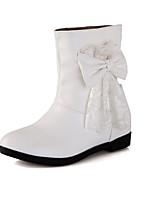 Zapatos de mujer - Tacón Cuña - Cuñas / Punta Redonda / Botas a la Moda - Botas - Vestido / Casual - Semicuero - Negro / Blanco / Beige