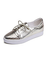 Scarpe Donna - Sneakers alla moda - Tempo libero / Ufficio e lavoro / Formale - Comoda / A punta - Plateau - Di pelle - Argento / Dorato