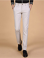 Men's Autumn Clothing 100% Cotton Long Trousers Fashion Trend Straight Male Slim Commercial Casual Pants