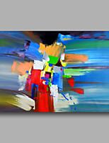prêt à main tendue toile abstraite de peinture à l'huile moderne bleu vert déco maison un panneau peint à la main