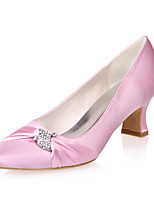 Women's Wedding Shoes Square Toe Heels Wedding / Party & Evening Black / Blue / Pink / Purple / Ivory / White / Silver