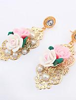 Women's Stylish Elegant European style Flower Plastic Earrings