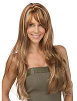 Capless High Quality Synthetic Mixed Color Straight Hair Wig