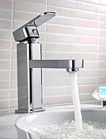 Contemporary Brass Chrome Finsh Basin Faucet